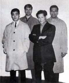 Bruce Lee, Ed Parker, James Yimm Lee and Ralph Castro